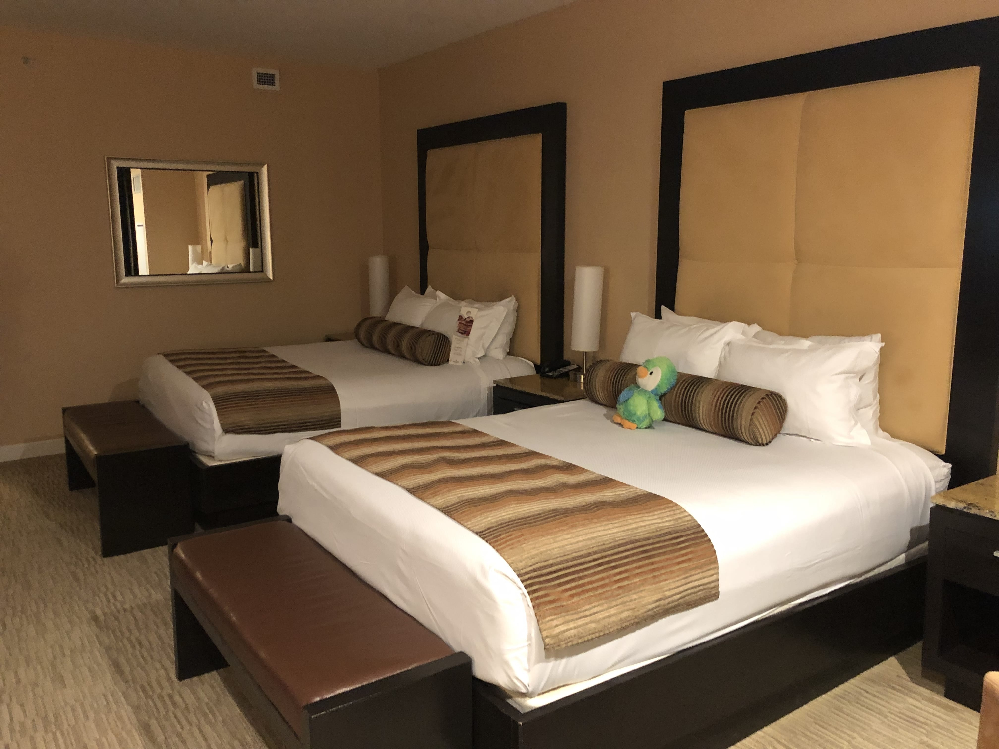 Our two-bed room in Agua Caliente Casino Resort Spa