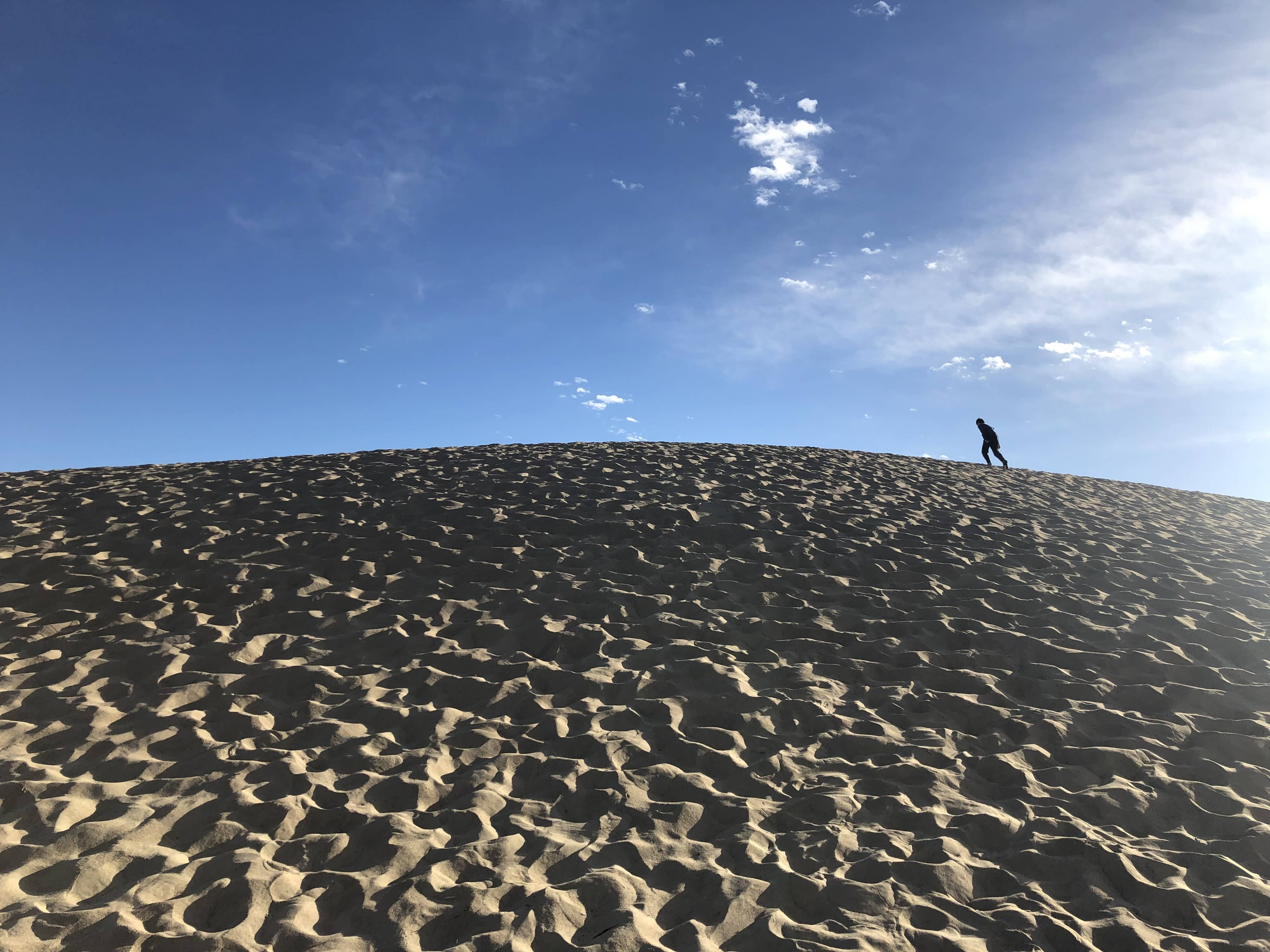 Hiking in the area of Mesquite Flat Sand Dunes was pretty fun.