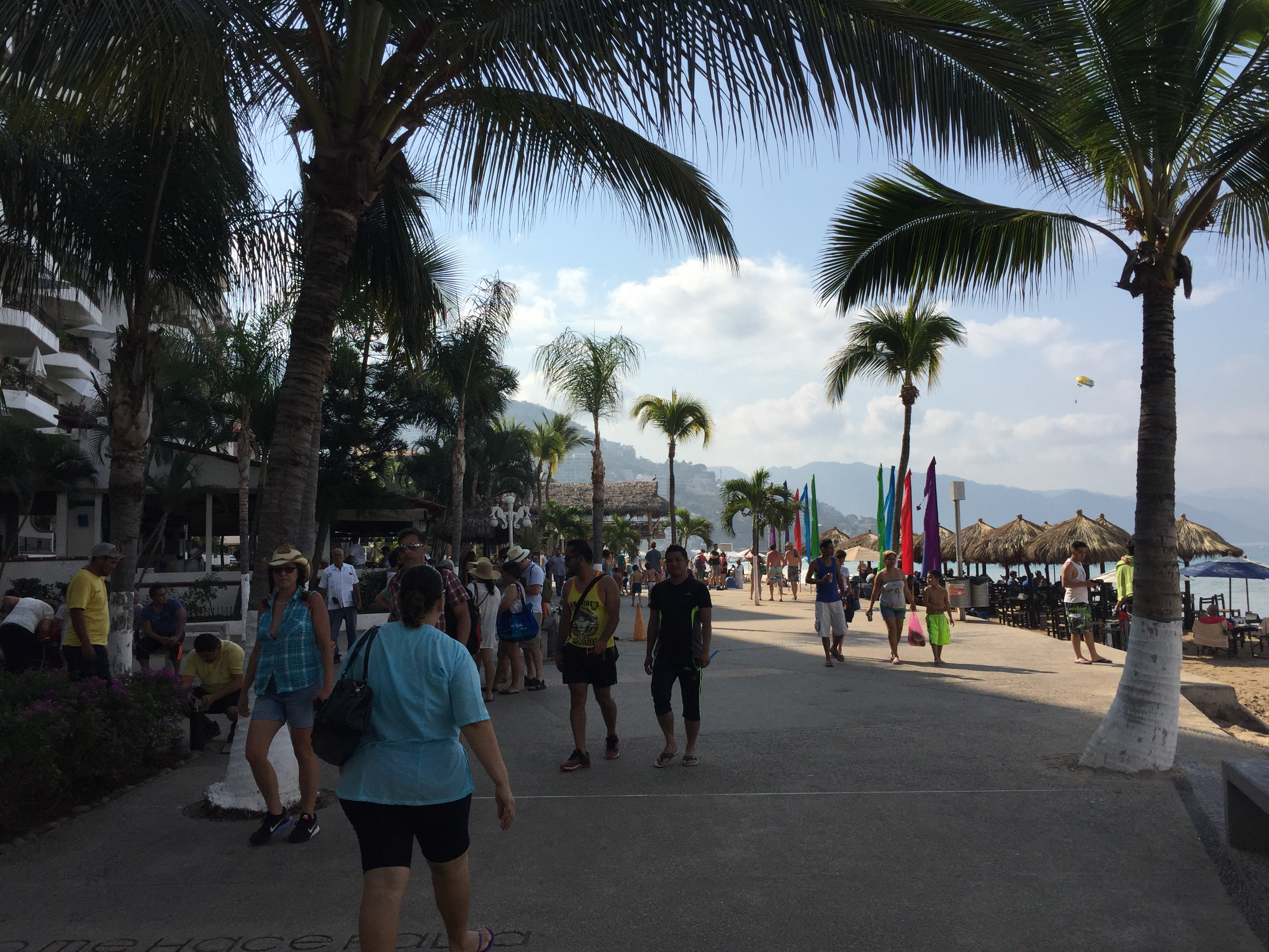 Seaside trail of old downtown area at Puerto Vallarta