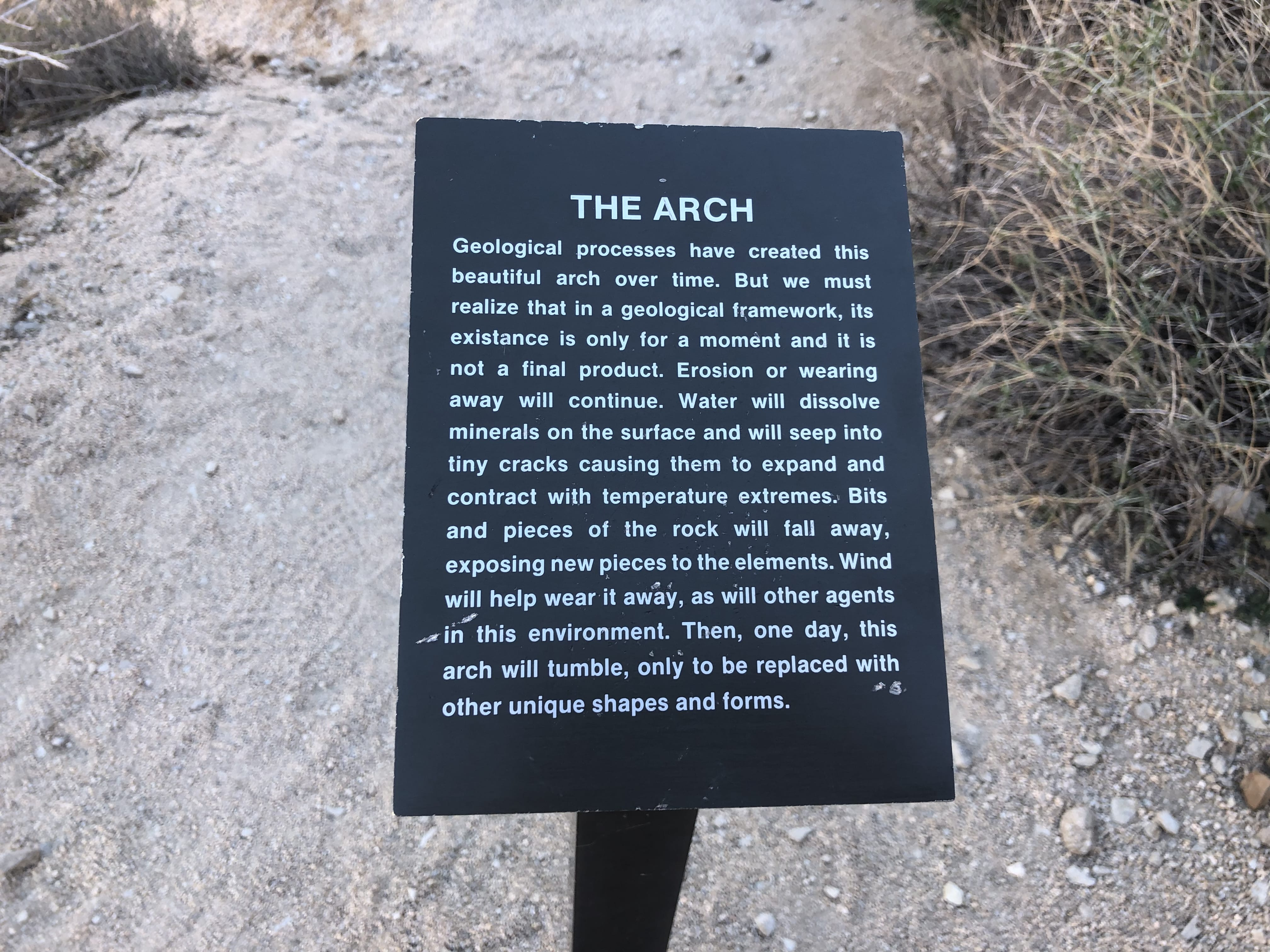 About the Arch in Joshua Tree National Park